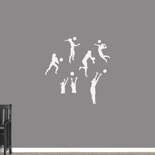Volleyball Players Small Wall Decals Set