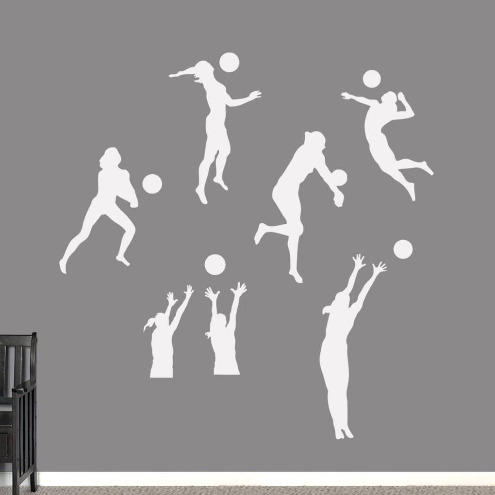 Sweetums Volleyball Players Large Wall Decals Set (Gold) ...