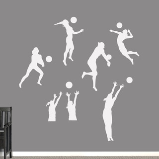 Volleyball Players Large Wall Decals Set