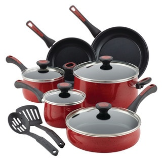Paula Deen Riverbend Aluminum Nonstick 12-Piece Cookware Set with Rebate