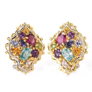 Michael Valitutti Jardin de Bijoux Silver Multi Gemstone Earrings