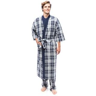 Men's Mad 4 Plaid Kimono Robe