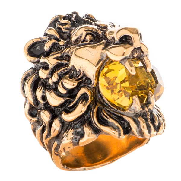 d6168db74 Shop Gucci Austrian Crystal Lion Head Ring - Free Shipping Today ...