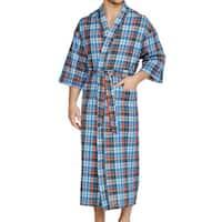 Men's Pucker Up Woven Kimono Robe