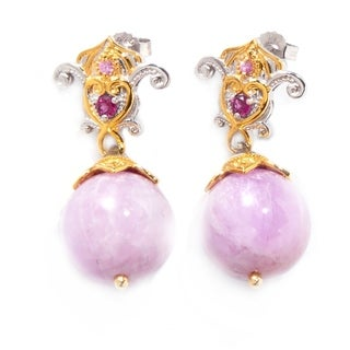 Michael Valitutti Kunzite with Rhodolite and Pink Sapphire Earrings