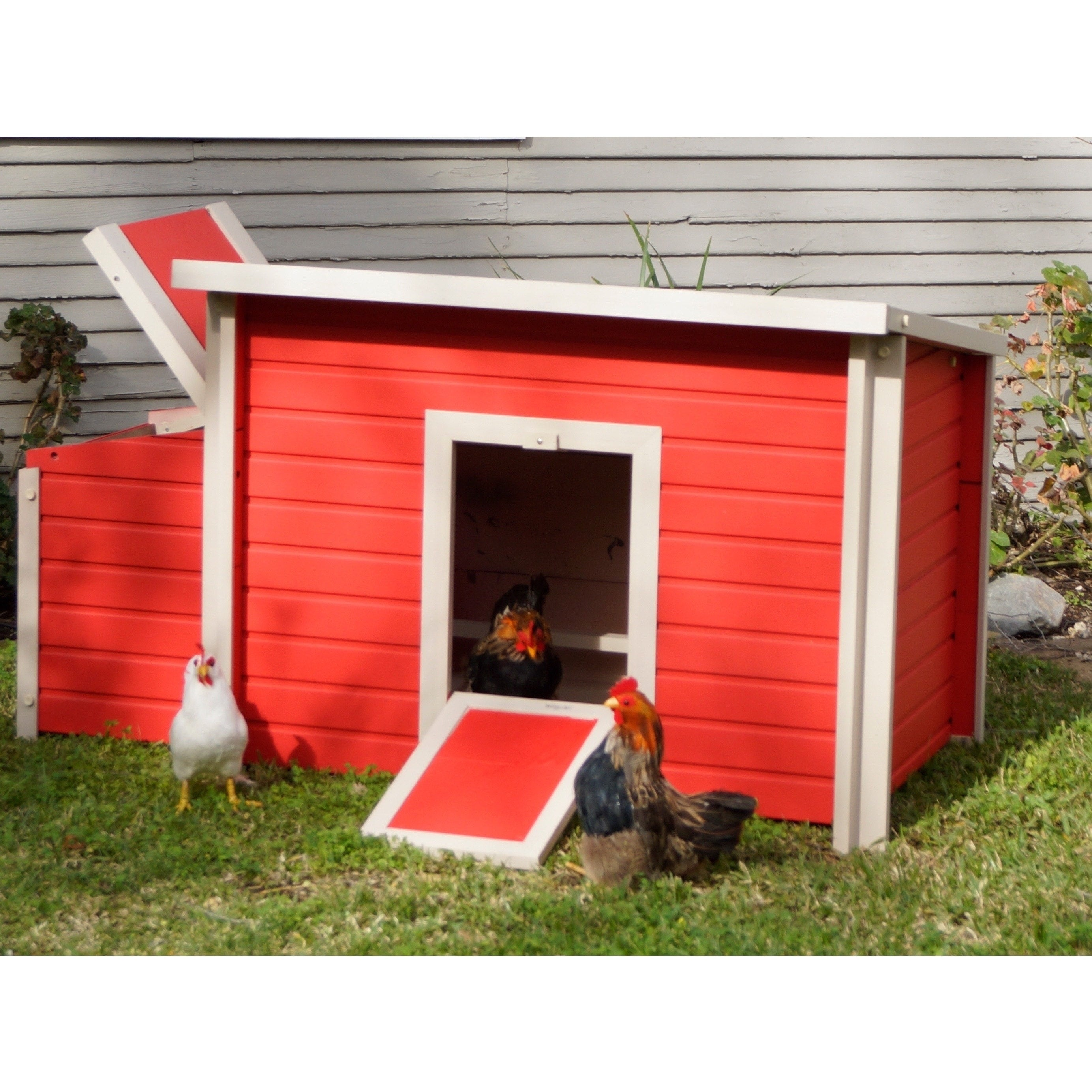 New Age Pet Red ecoFLEX Fontana Chicken Barn (Fontanta Ch...