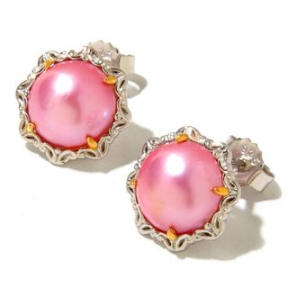 Michael Valitutti Mabe Pink Pearl Earringd