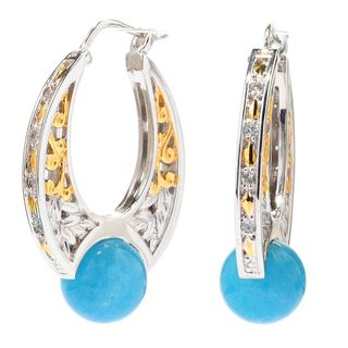 Michael Valitutti Aquamarine with White Sapphire Earrings