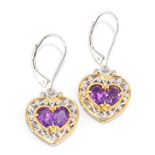Michael Valitutti Amethyst Heart Earrings