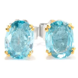 Michael Valitutti Blue Zircon Stud Earrings