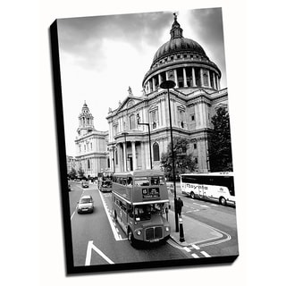 BandW London City Printed on Framed Ready to Hang Canvas
