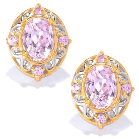 Michael Valitutti Kunzite with Light Pink Sapphire Earrings