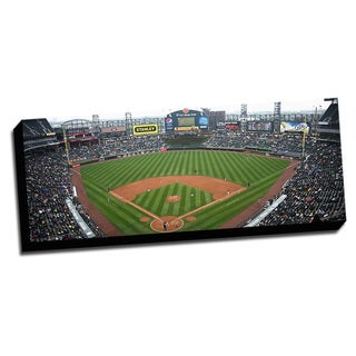 Chicago Baseball Field Printed on Framed Ready to Hang Canvas