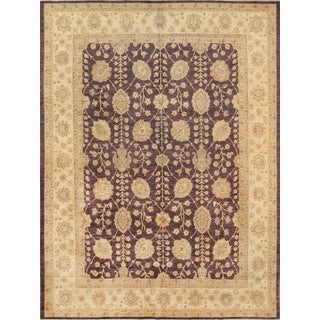 Pasargd Classic Ferehan Hand-Knotted Brown/Beige Wool Rug (9' x 12')