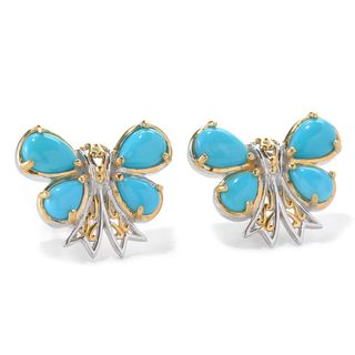 Michael Valitutti Sleeping Beauty Turquoise Butterfly Earrings