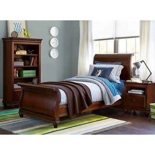 SmartStuff Classics 4.0 Classic Cherry Finish Complete Sleigh Bed