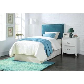 Sabina Upholstered Blue Linen Queen Headboard