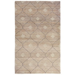 Kosas Home Handwoven Reign Natural, Beige, and Grey Wool, Jute, and Cotton Rug (5'x8')
