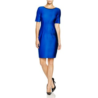 T Tahari Women's Blue Scuba Dakota Dress