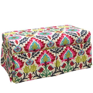Skyline Furniture Kids Skirted Storage Bench in Santa Maria Desert Flower
