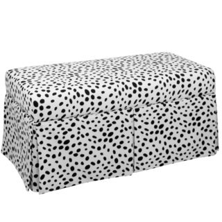 Skyline Furniture Kids Skirted Storage Bench in Togo Black And White
