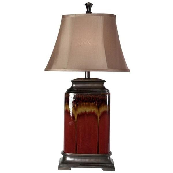 Oliver & James Wakan Glazed Ceramic Table Lamp