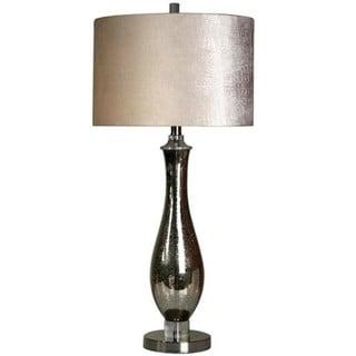 StyleCraft Steel And Mercury Glass Table Lamp