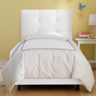 Skyline Furniture Kids Tufted Bed in Premier White