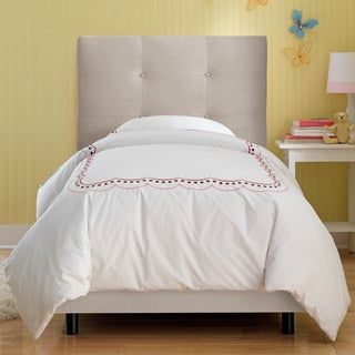 Skyline Furniture Kids Tufted Bed in Premier Platinum