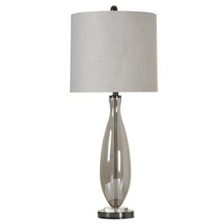 StyleCraft Smoke Glass Table Lamp