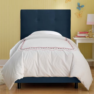 Skyline Furniture Kids Tufted Bed in Premier Navy