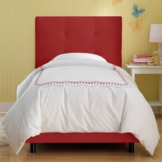 Skyline Furniture Kids Tufted Bed in Premier Red