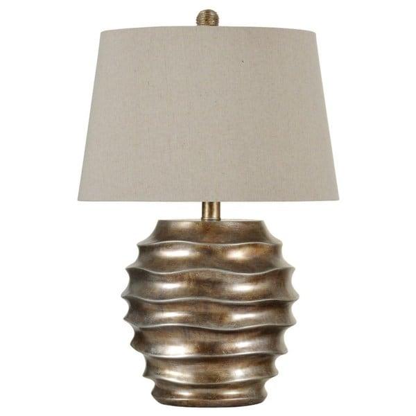 Georgian Silver Finish Table Lamp