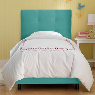Skyline Furniture Kids Tufted Bed in Premier Azure