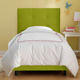 Skyline Furniture Kids Tufted Bed in Premier Kiwi