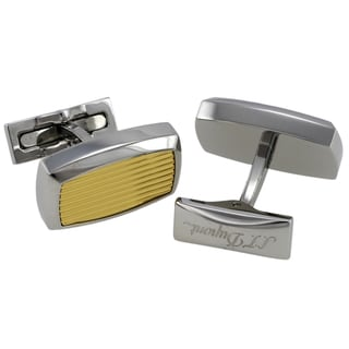 S.T. Dupont Guilloche Style Gold/Palladium Cufflinks