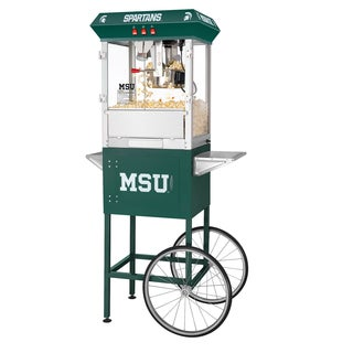 Michigan State University MSU Spartans 8oz Great Northern Popcorn Machine with Cart