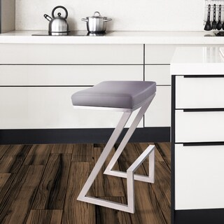 Armen Living Atlantis 30-inch Backless Bar Stool