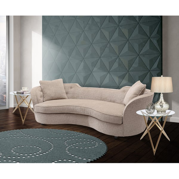 Shop Armen Living Palisade Contemporary Sofa In Sand