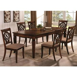Da'nkona Antique Brown Mid Century Inspired Design Dining Set