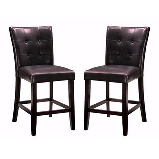 Camino Button Tufted Design Counter Height Stools (Set of 2)