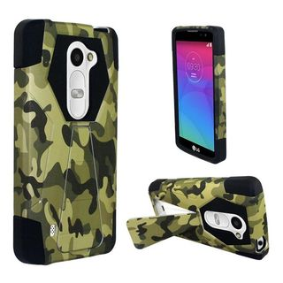 Insten Hard PC/ Silicone Dual Layer Hybrid Phone Case Cover with Stand for LG K4/ Optimus Zone 3/ Spree