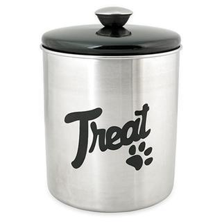 Stainless Steel & Black Top Treat Jar 16oz -