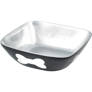 Cast Aluminum Bowl 36oz - Black W/White Bone