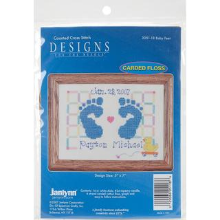 Baby Feet Counted Cross Stitch Kit - 7 X5 14 Count