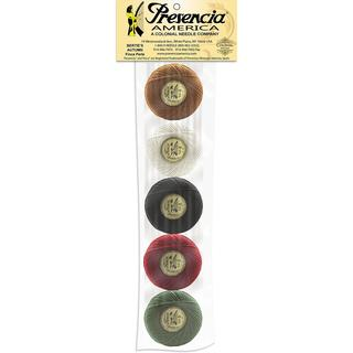 Presencia America Perle Cotton Balls Sampler 77yd - Bertie's Autumn 5/Pkg