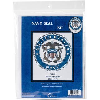 U.S. Navy Emblem Counted Cross Stitch Kit - 10.6 X13.1 14 Count