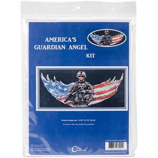 America's Guardian Angel Counted Cross Stitch Kit - 17.6 X8.2 14 Count
