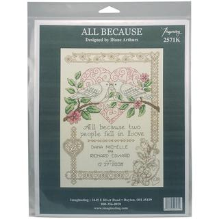 All Because Wedding Record Counted Cross Stitch Kit - 7.25 X10 14 Count