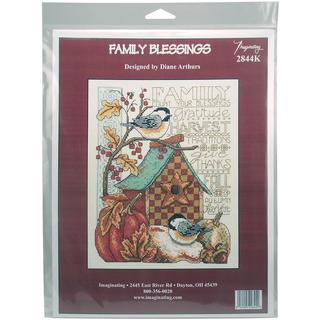 Family Blessing Counted Cross Stitch Kit - 8 X10 14 Count